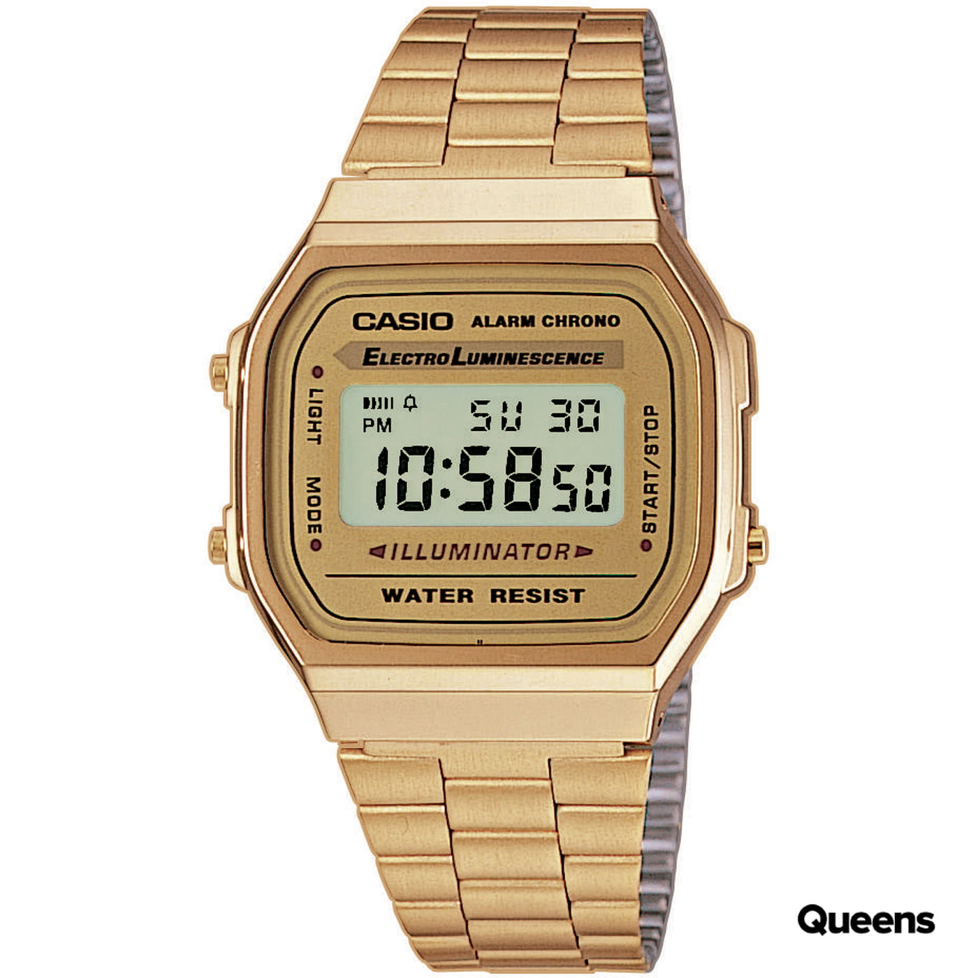 Casio A168 WG-9EF golden