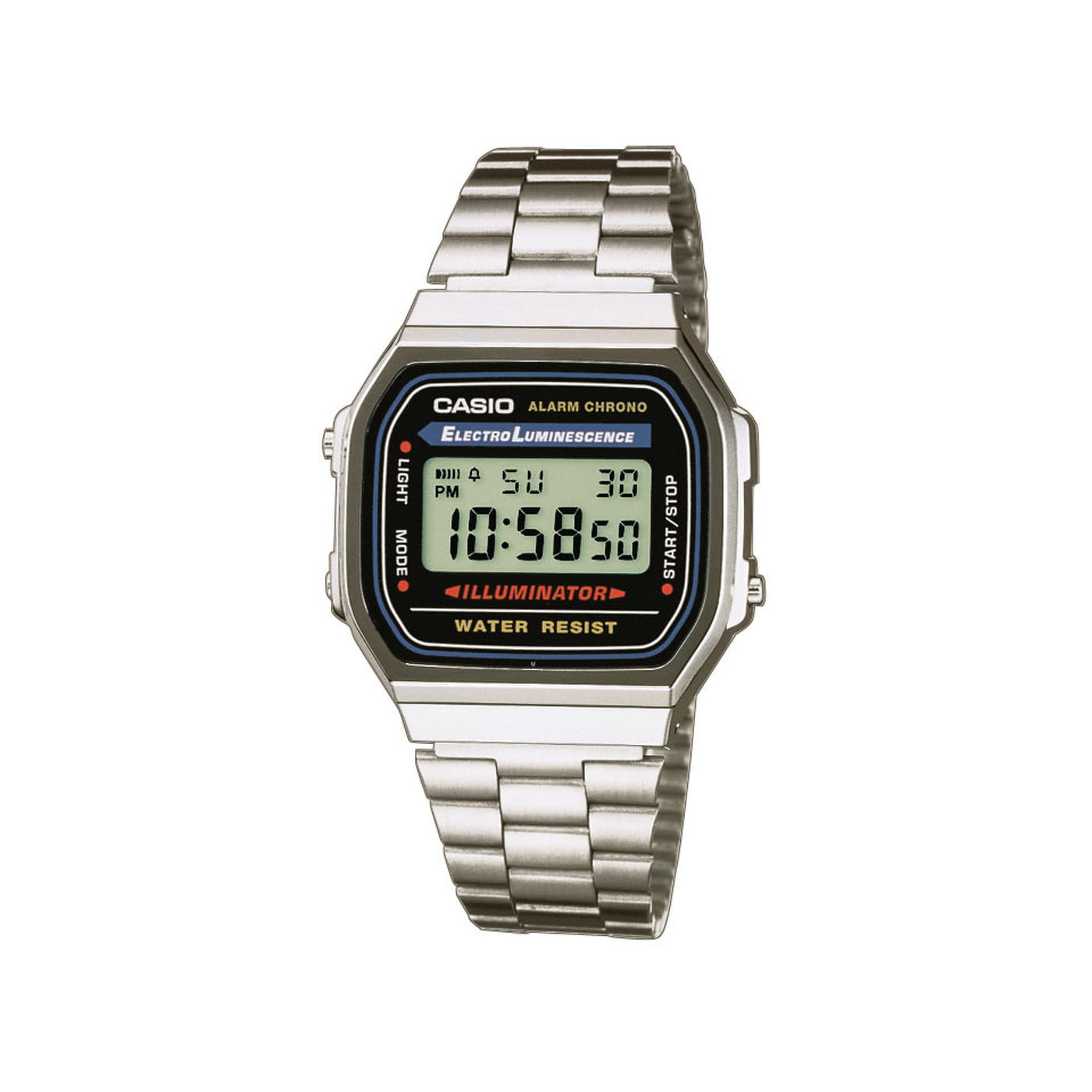 Casio A168WA 1YES silber