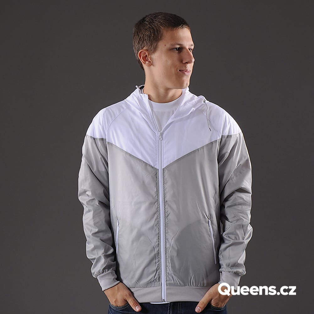 Urban Classics Arrow Windrunner gray / white
