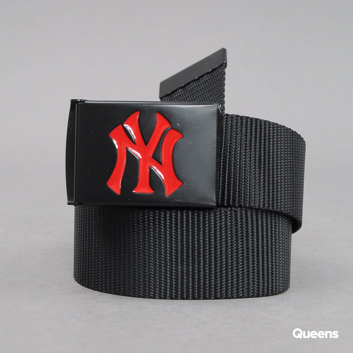 MD MLB Premium Black Woven Belt Single NY black / red