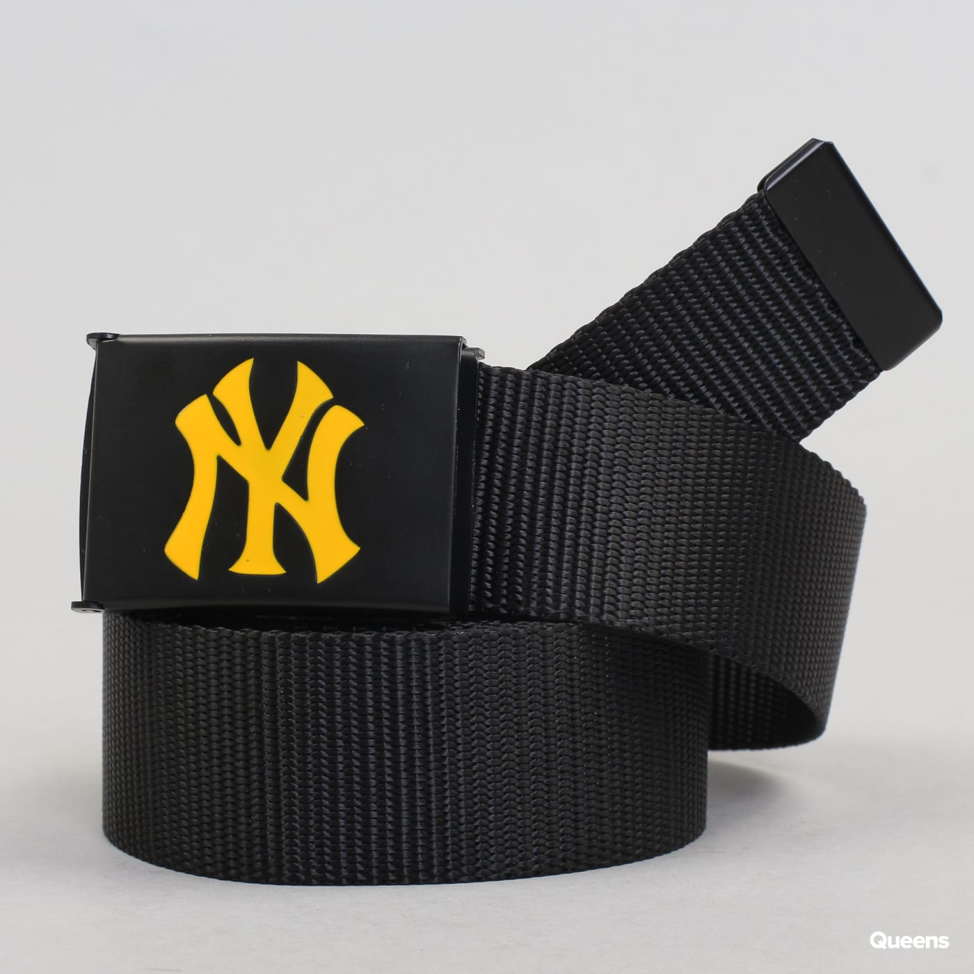 MD MLB Premium Black Woven Belt Single NY schwarz / gelb