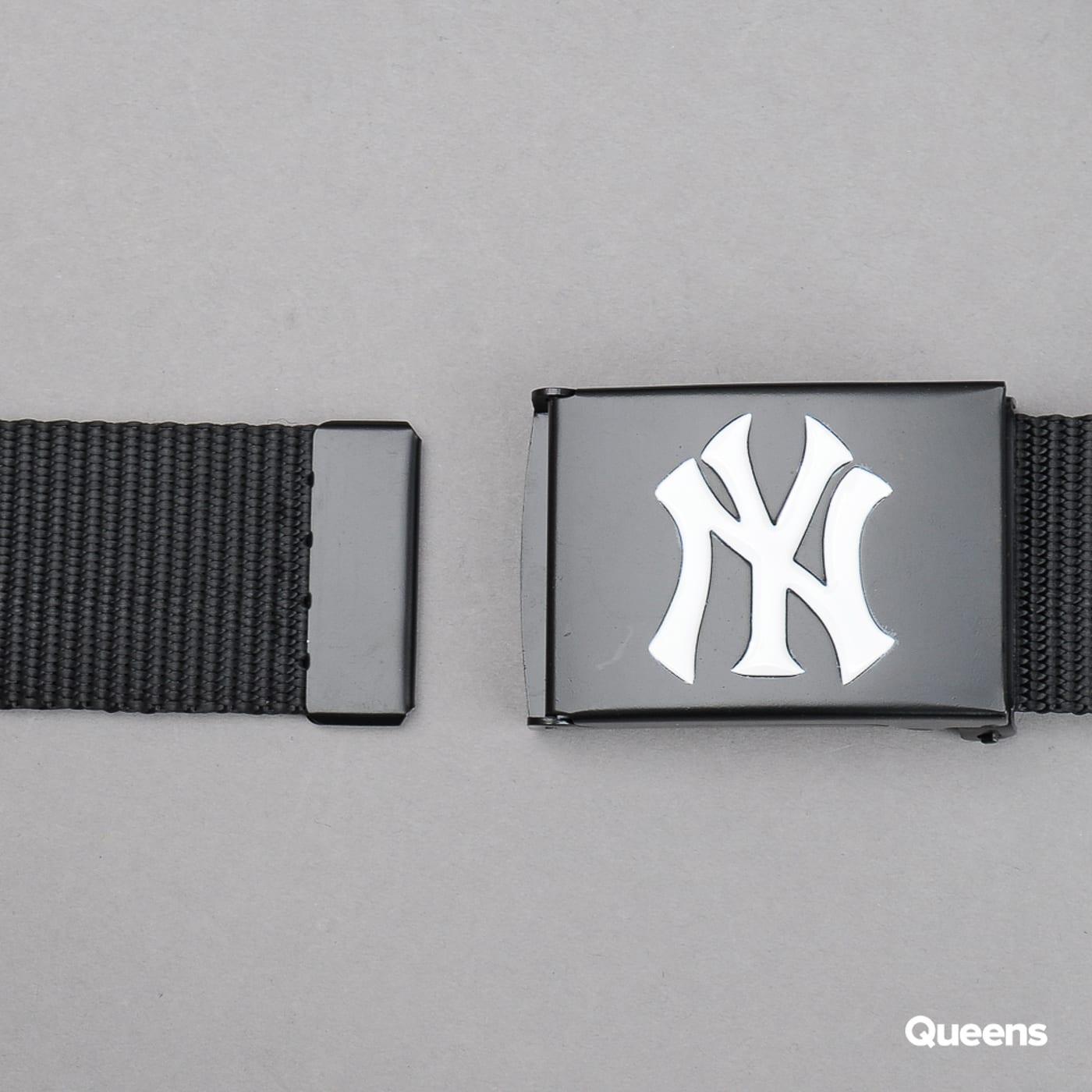 MD MLB Premium Black Woven Belt Single NY čierny / biely