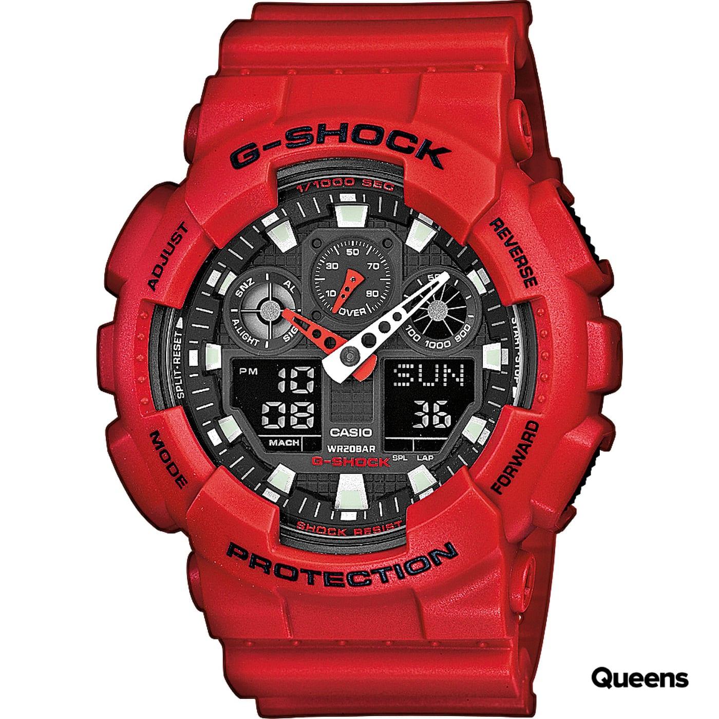 Casio G-Shock GA 100B-4AER červené