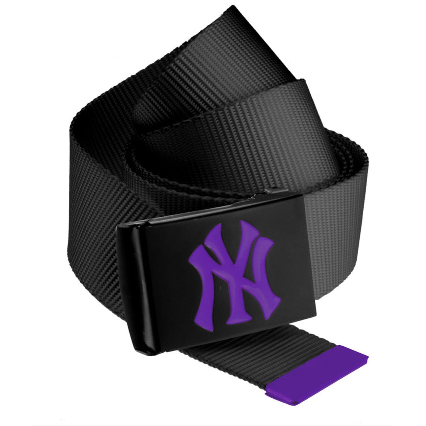MD MLB Premium Black Woven Belt Single NY black / purple
