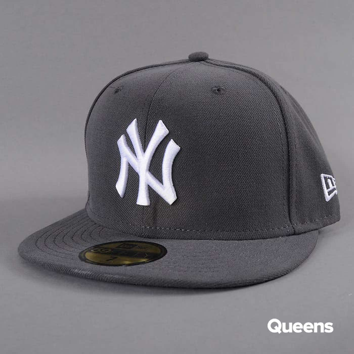 New Era MLB Basic NY dark gray / white