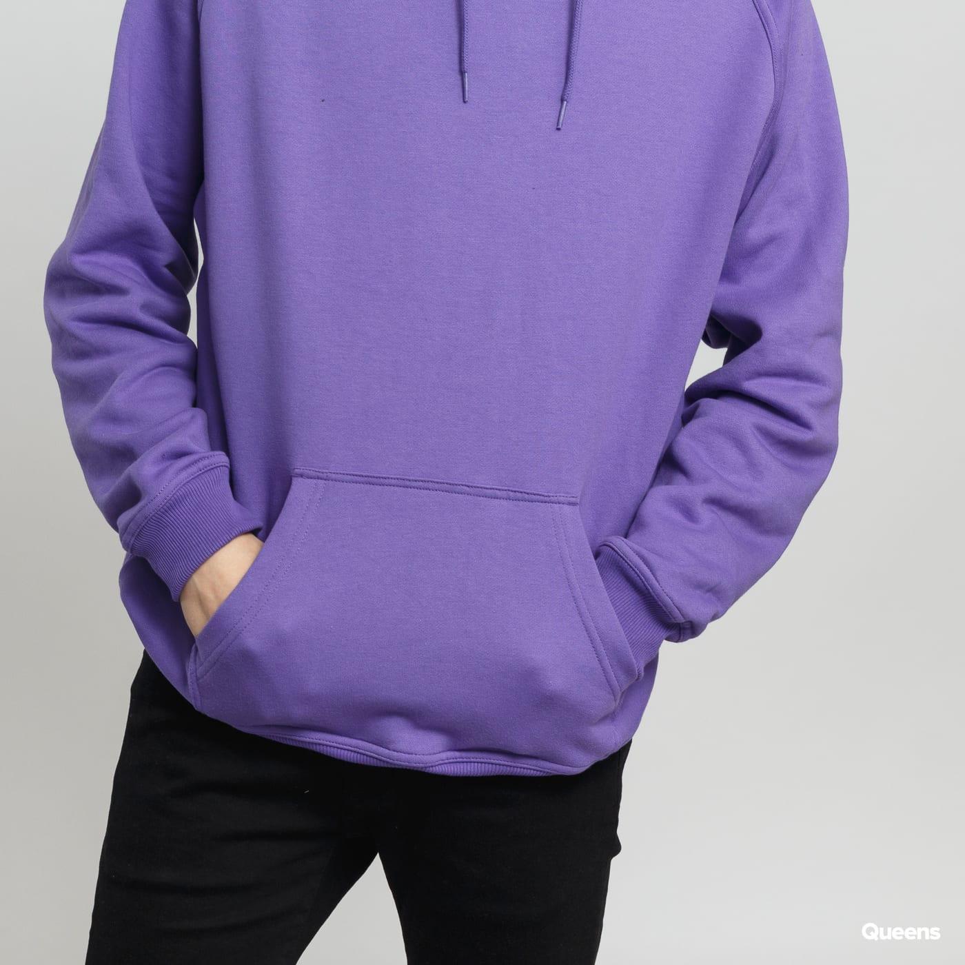 Urban Classics Blank Hoody fialová