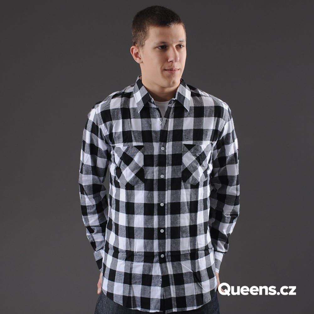 Urban Classics Checked Flanell Shirt black / white