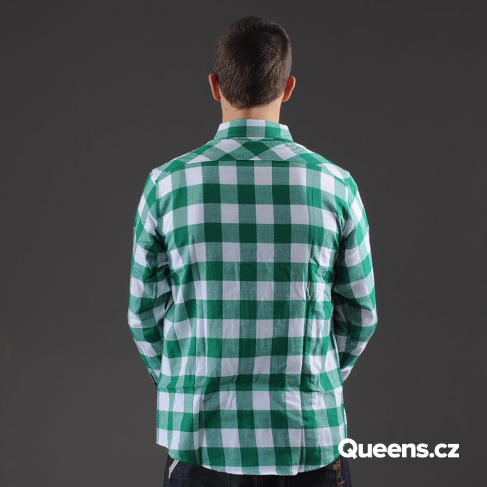 Urban Classics Checked Flanell Shirt white / green