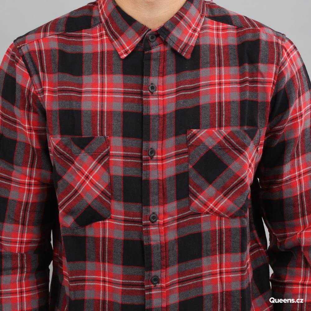 Urban Classics Checked Flanell Shirt 3 čierna / šedá / červená