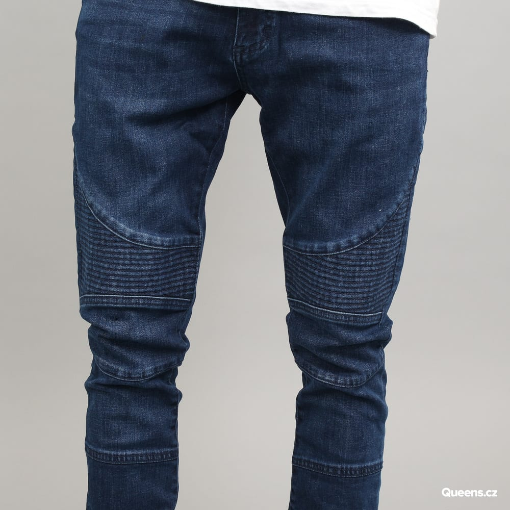 Urban Classics Slim Fit Biker Jeans dark blue