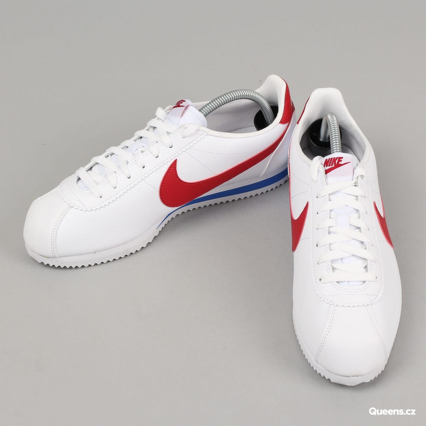Nike Classic Cortez Leather white / varsity red - vrsty ryl