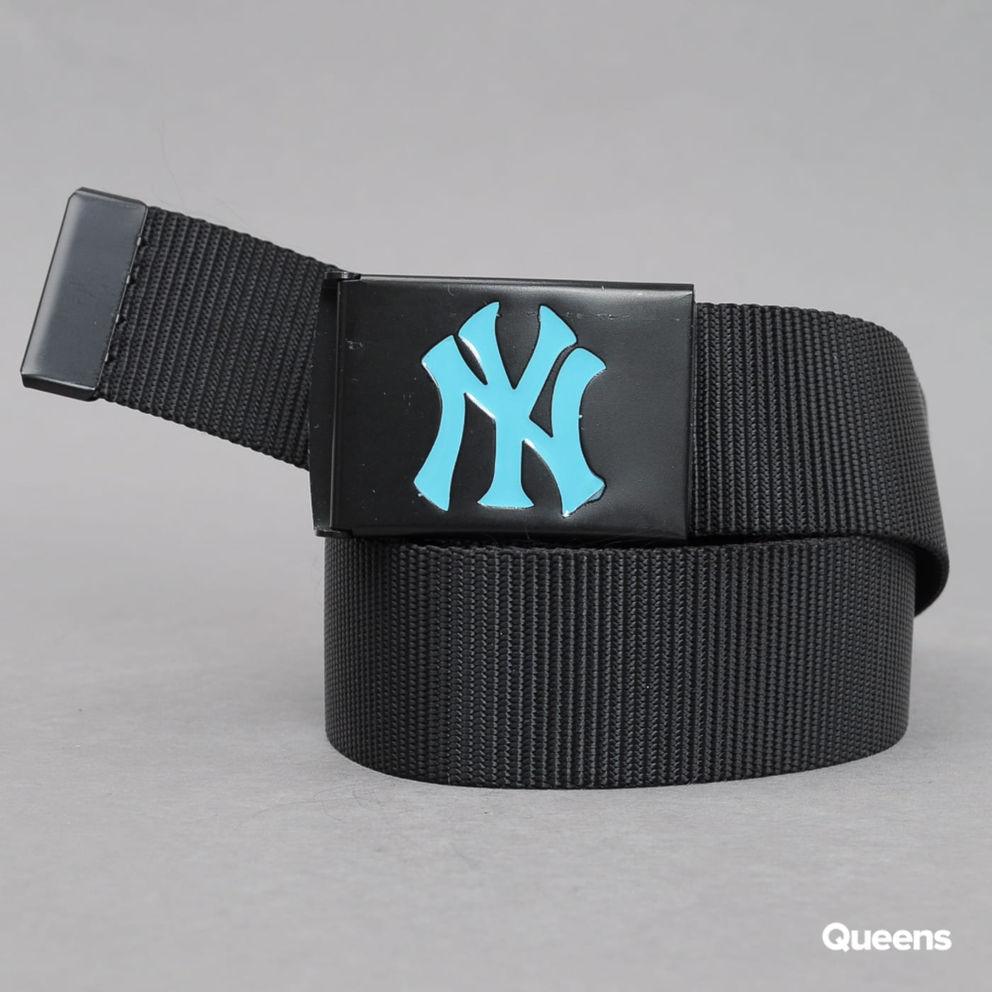 MD MLB Premium Black Woven Belt Single NY black / turquoise