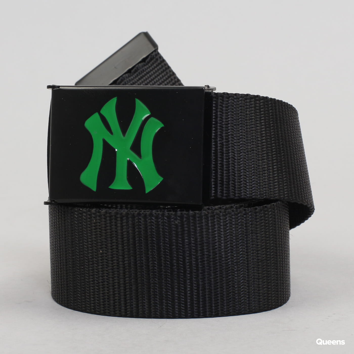 MD MLB Premium Black Woven Belt Single NY schwarz / dunkelgrün