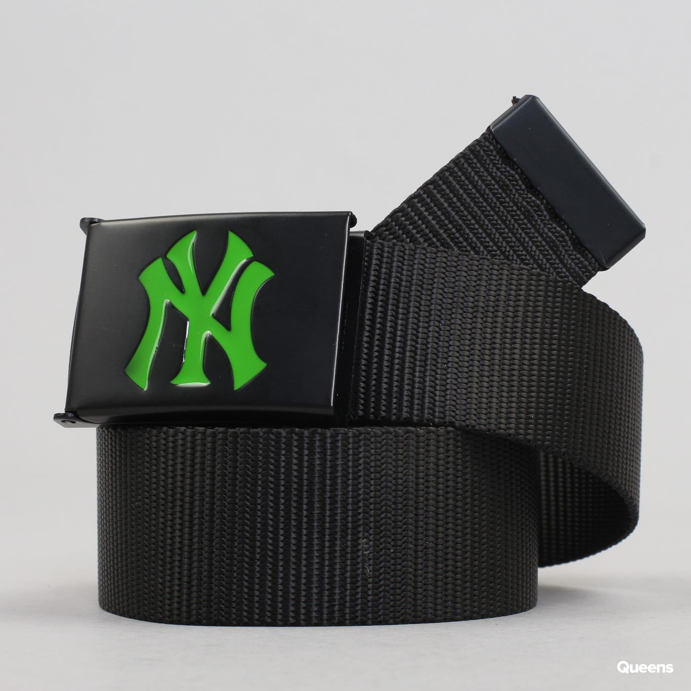 MD MLB Premium Black Woven Belt Single NY black / green