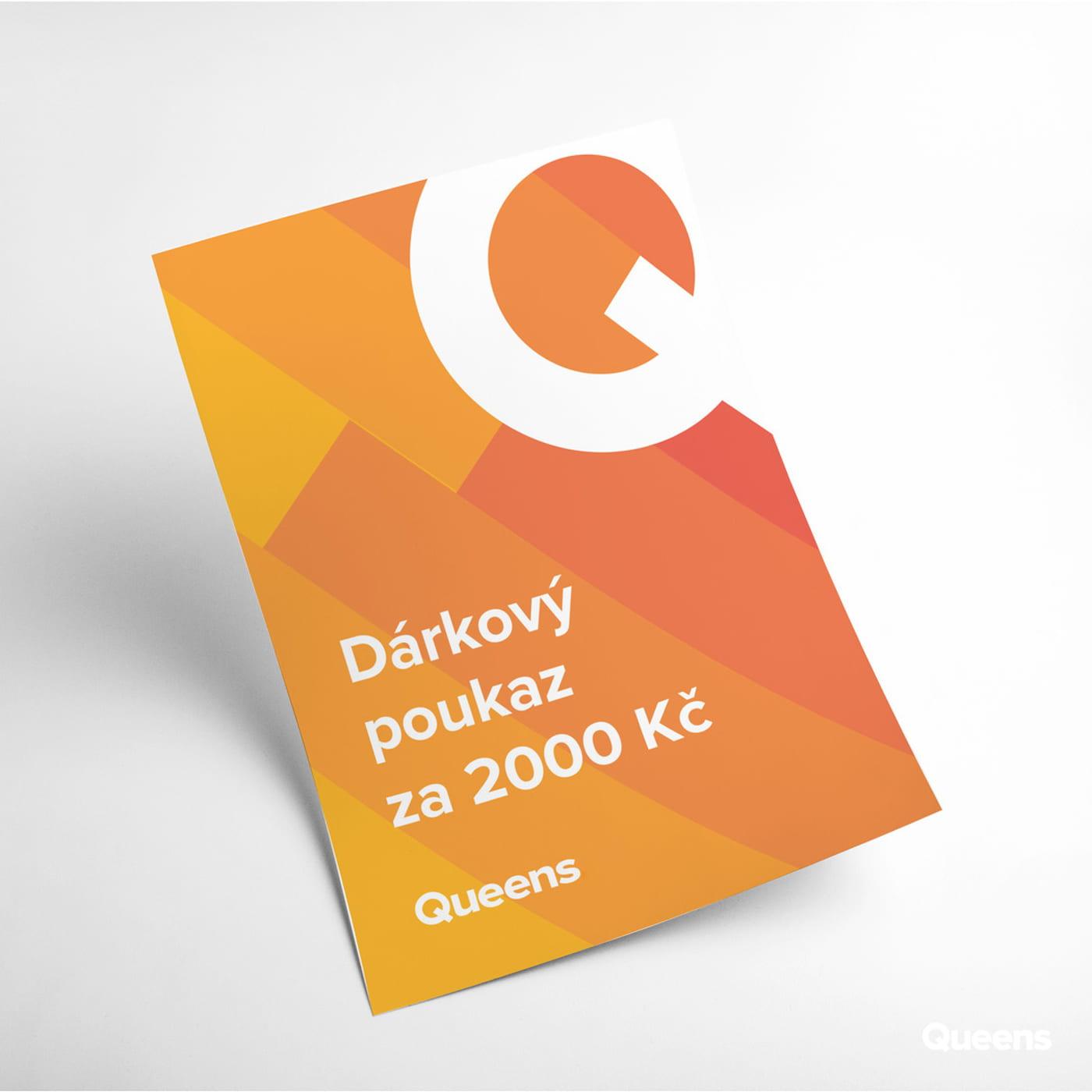 Queens Gift voucher 2 000 CZK