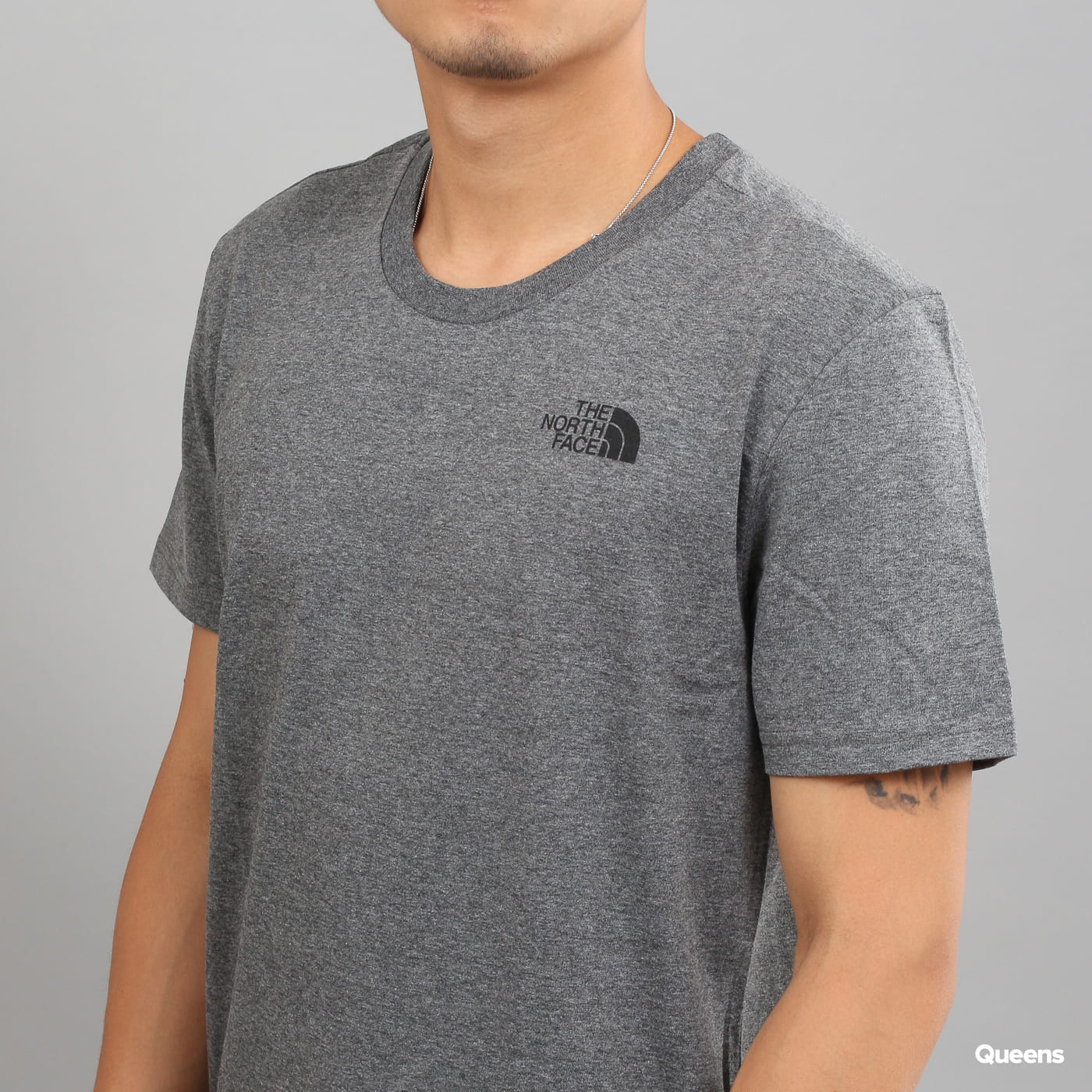The North Face Simple Dome Tee melange dark gray