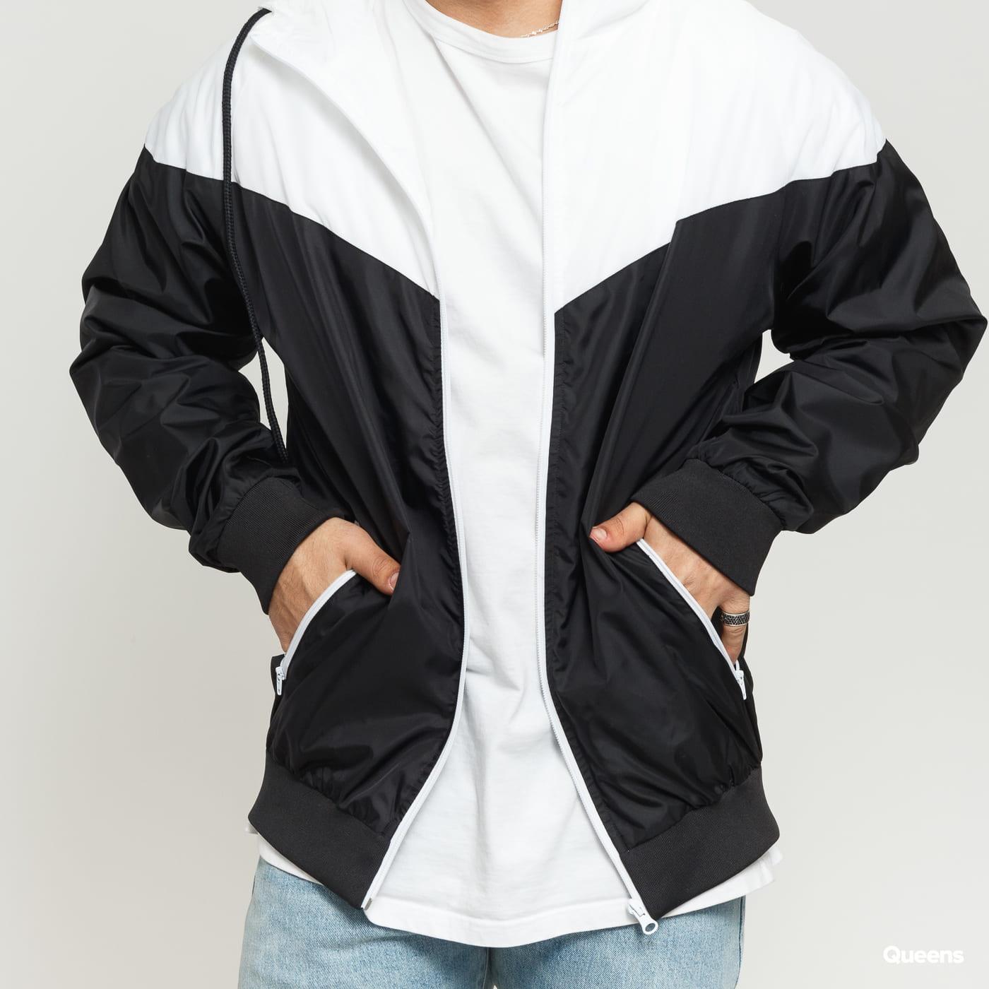 Urban Classics Arrow Windrunner čierna / biela