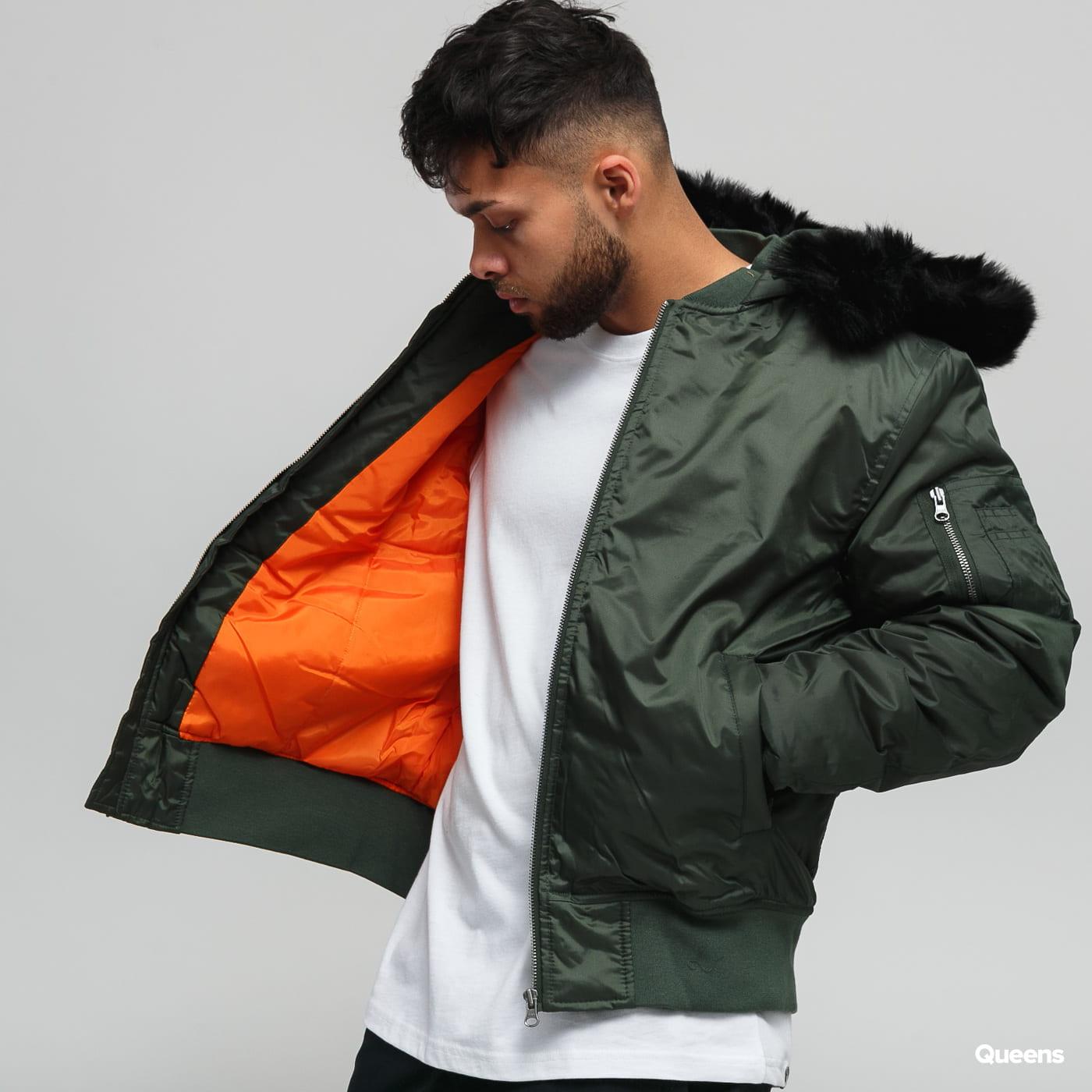 Urban Classics Hooded Basic Bomber Jacket olive