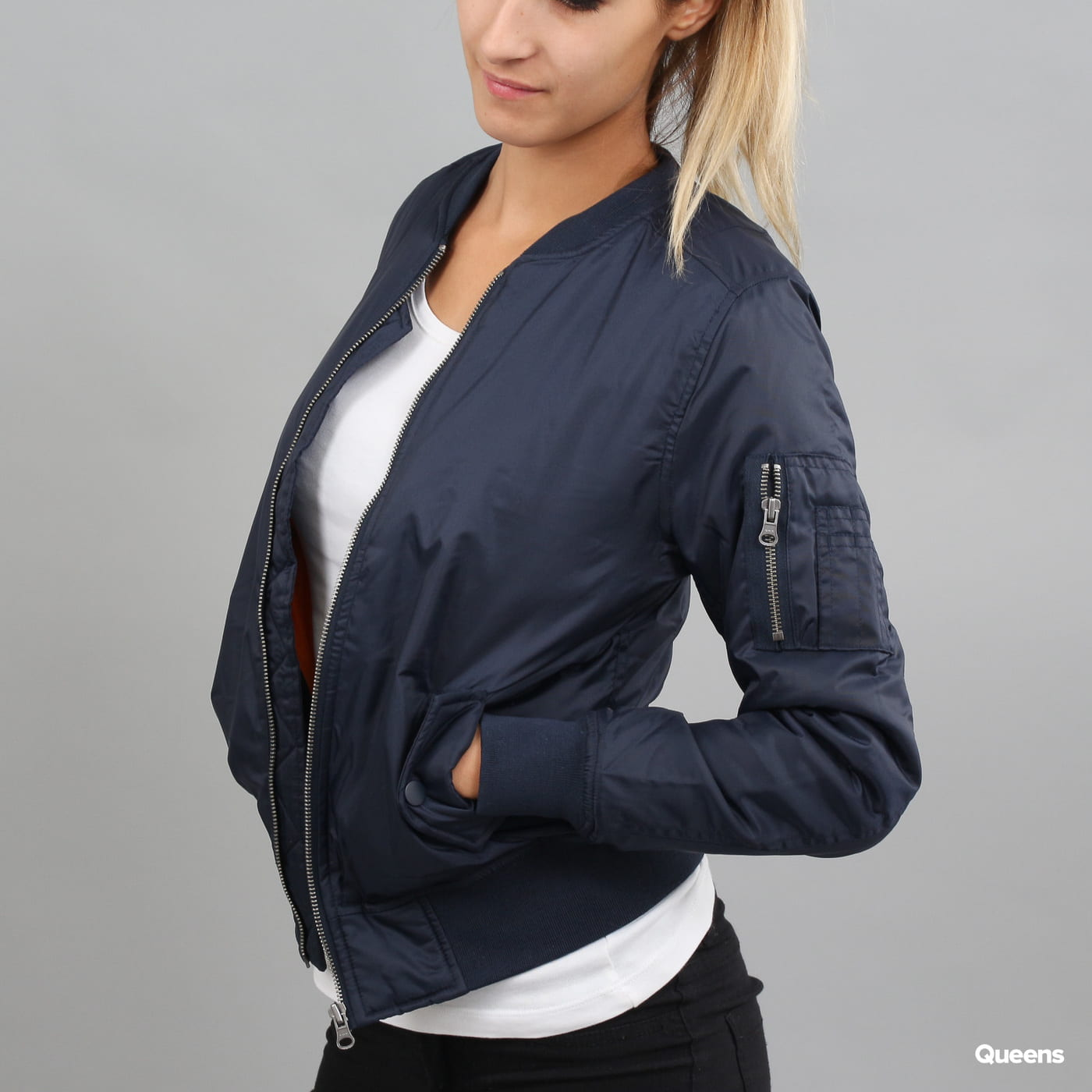 Urban Classics Ladies Basic Bomber Jacket navy