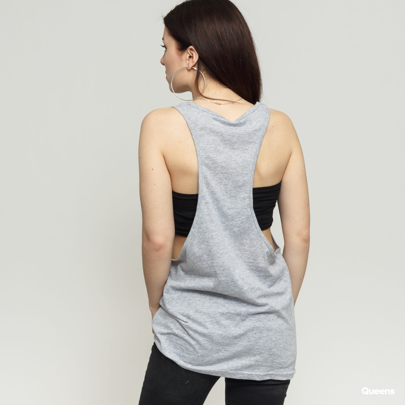 Urban Classics Ladies Loose Tank grau
