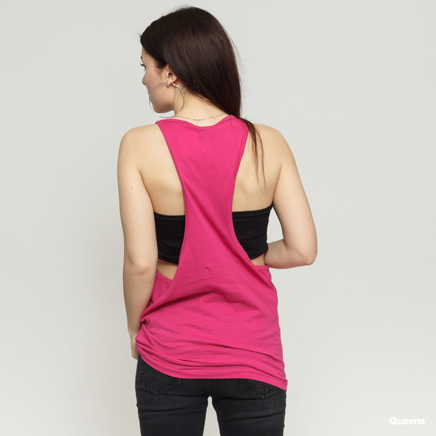 Urban Classics Ladies Loose Tank ružové