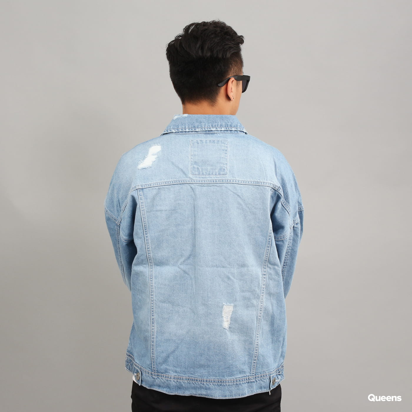 Urban Classics Ripped Denim Jacket gebleicht