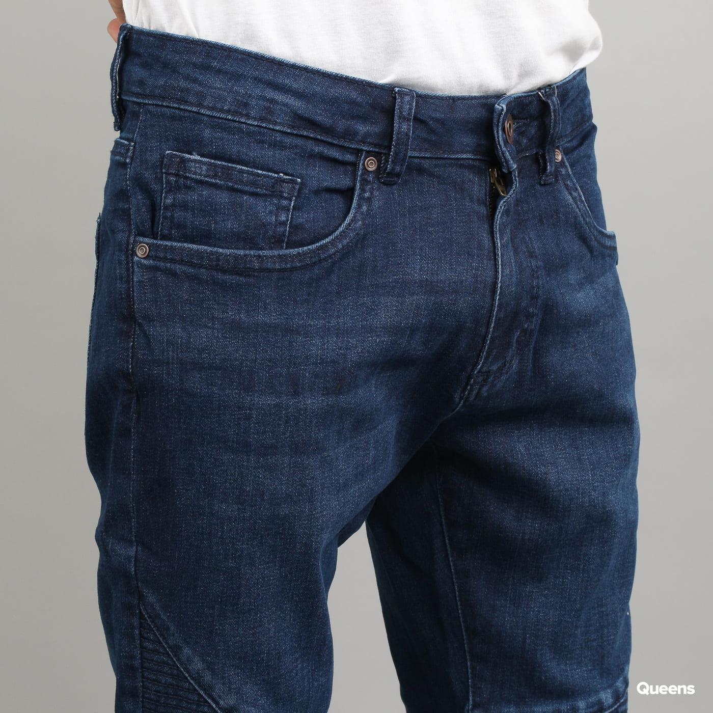 Urban Classics Slim Fit Biker Jeans dunkelblau