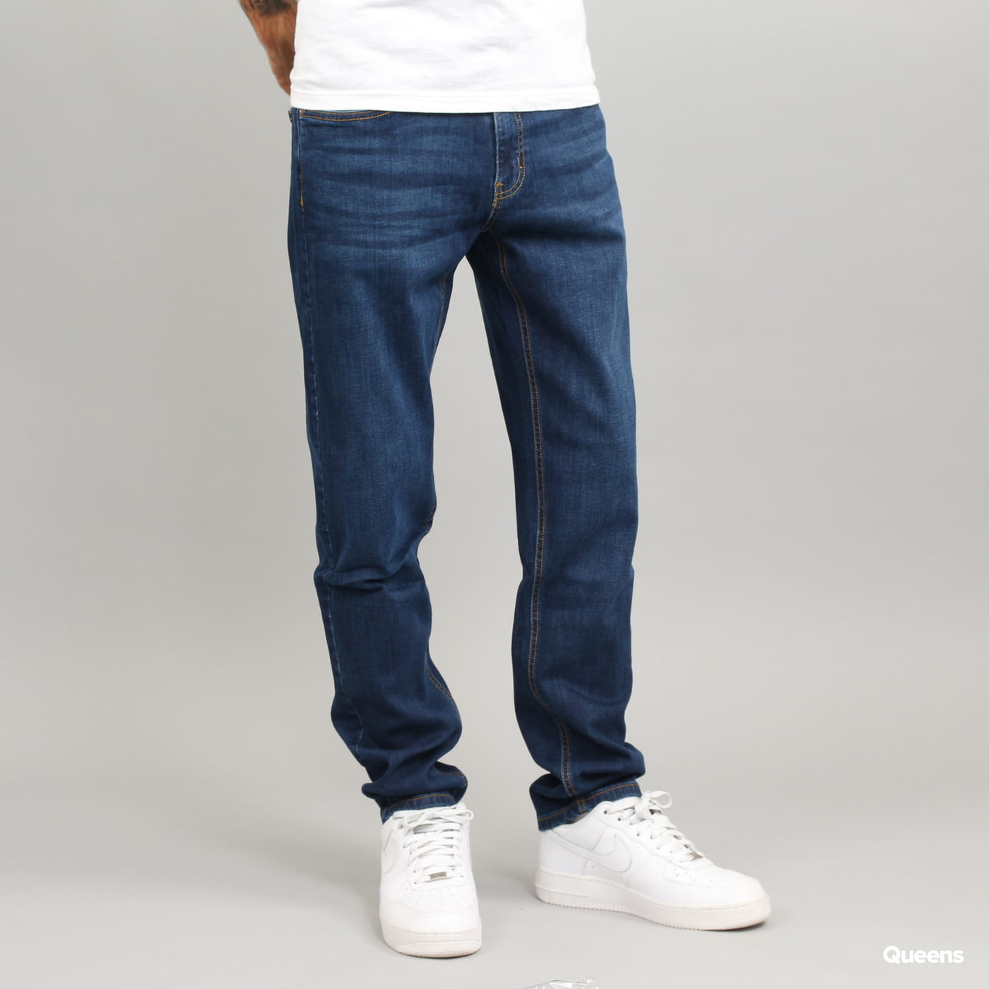 Urban Classics Stretch Denim Pants dark blue