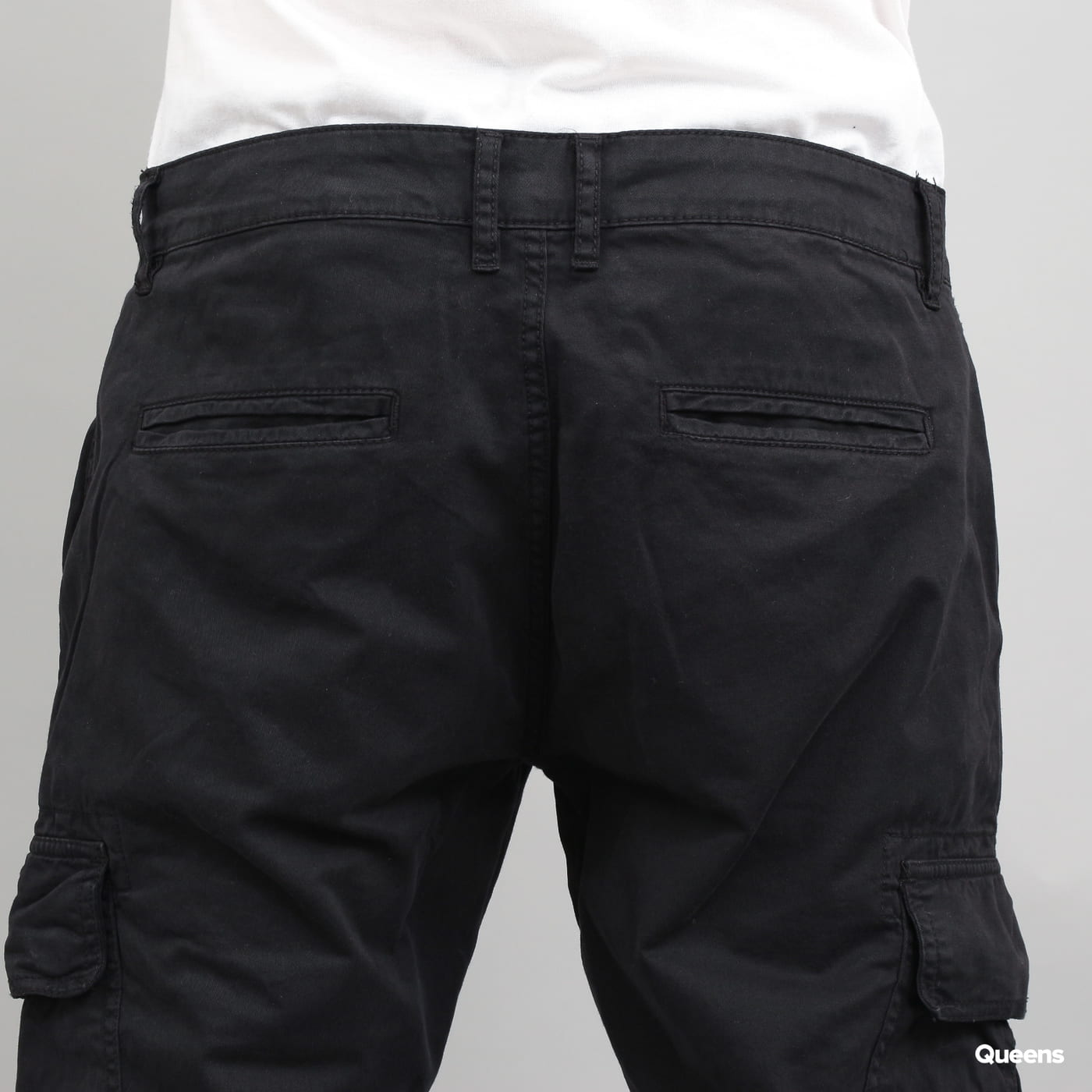 Urban Classics Washed Cargo Twill Jogging Pants schwarz
