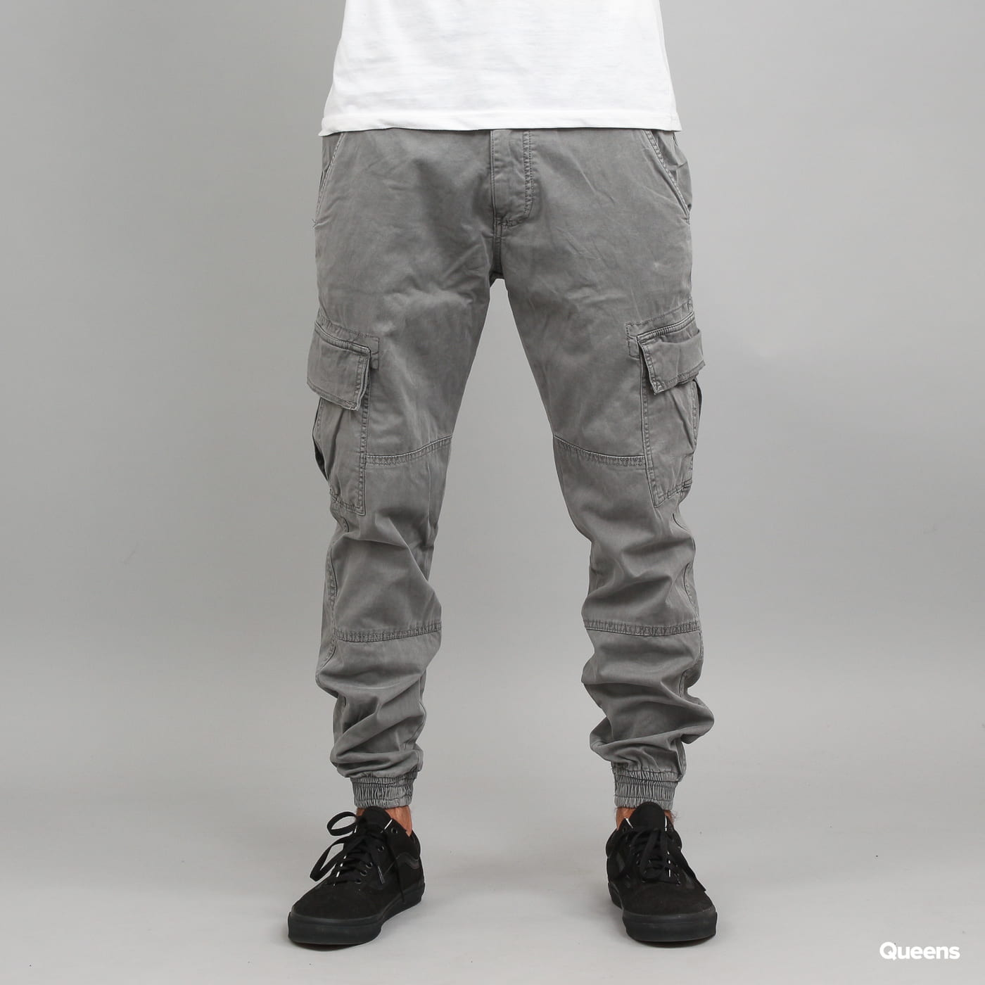 Urban Classics Washed Cargo Twill Jogging Pants gray