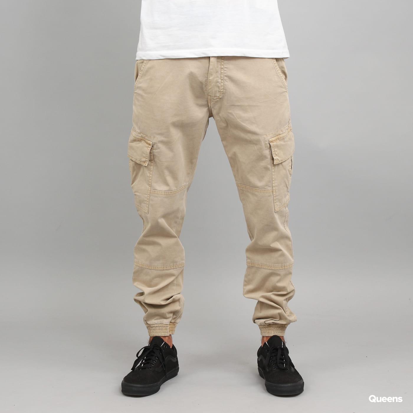 Urban Classics Washed Cargo Twill Jogging Pants beige