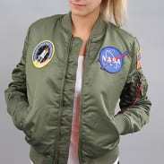 Alpha Industries WMNS MA - 1 VF NASA olivová