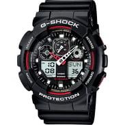 Casio G-Shock GA 100-1A4ER schwarz / rot