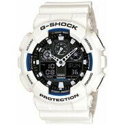 Casio G-Shock GA 100B-7AER bílé