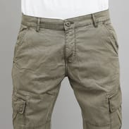 Urban Classics Washed Cargo Twill Jogging Pants olivové