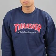 Thrasher Outlined Crewneck navy