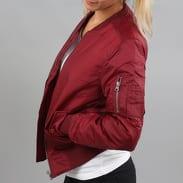 Urban Classics Ladies Basic Bomber Jacket vínová