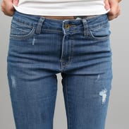 Urban Classics Ladies Ripped Denim Pants blue washed