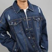 Urban Classics Ripped Denim Jacket blue washed