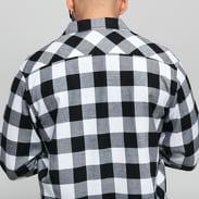 Urban Classics Checked Flanell Shirt čierna / biela
