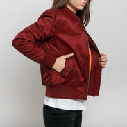 Urban Classics Ladies Basic Bomber Jacket burgund