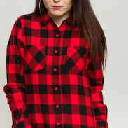 Urban Classics Ladies Checked Flanell Shirt black