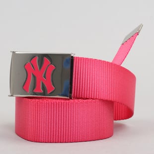MD MLB Premium Woven Belt Single NY tmavě růžový