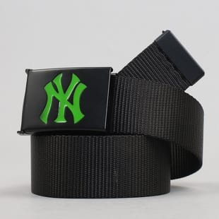 MD MLB Premium Black Woven Belt Single NY černý / neon zelený