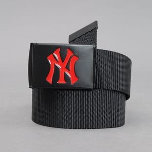 MD MLB Premium Black Woven Belt Single NY čierny / červený