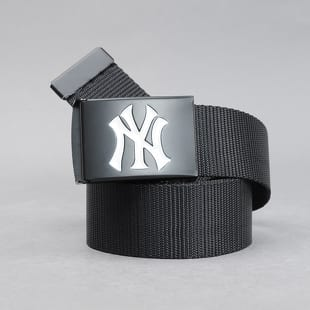 MD MLB Premium Black Woven Belt Single NY černý / bílý